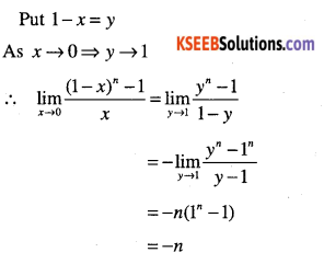 1st PUC Maths Question Bank Chapter 13 Limits and Derivatives 42