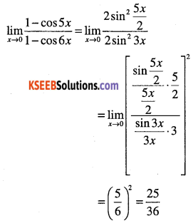 1st PUC Maths Question Bank Chapter 13 Limits and Derivatives 56