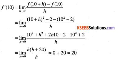 1st PUC Maths Question Bank Chapter 13 Limits and Derivatives 85