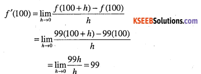 1st PUC Maths Question Bank Chapter 13 Limits and Derivatives 86
