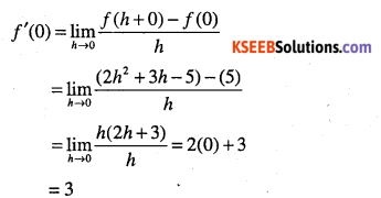 1st PUC Maths Question Bank Chapter 13 Limits and Derivatives 88