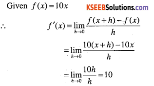 1st PUC Maths Question Bank Chapter 13 Limits and Derivatives 92