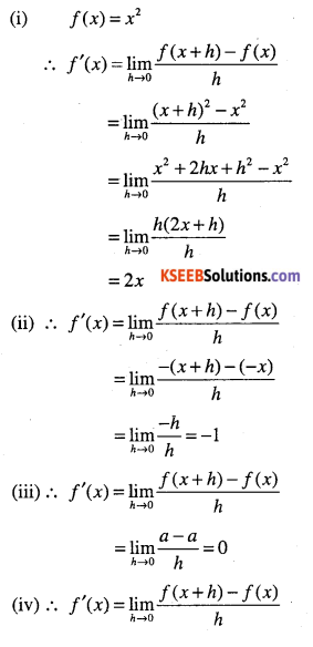 1st PUC Maths Question Bank Chapter 13 Limits and Derivatives 94