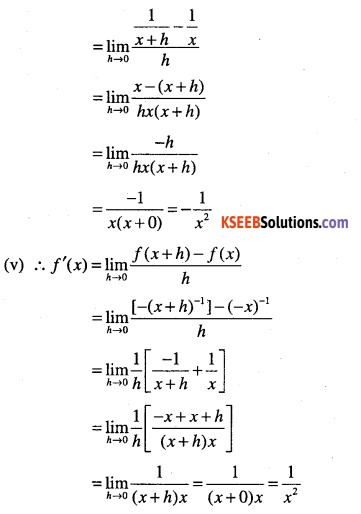 1st PUC Maths Question Bank Chapter 13 Limits and Derivatives 95