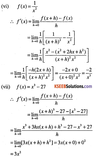 1st PUC Maths Question Bank Chapter 13 Limits and Derivatives 96