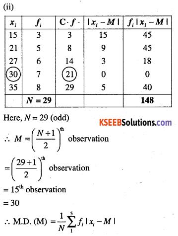 1st PUC Maths Question Bank Chapter 15 Statistics 12