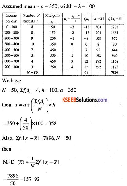 1st PUC Maths Question Bank Chapter 15 Statistics 15