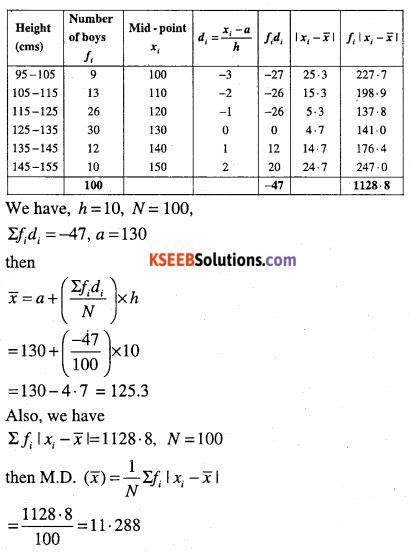 1st PUC Maths Question Bank Chapter 15 Statistics 17