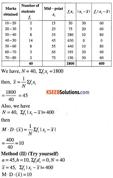 1st PUC Maths Question Bank Chapter 15 Statistics 18