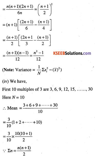 1st PUC Maths Question Bank Chapter 15 Statistics 26
