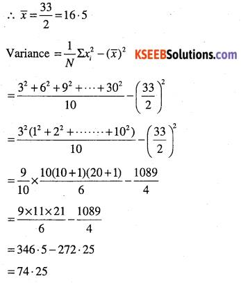 1st PUC Maths Question Bank Chapter 15 Statistics 27