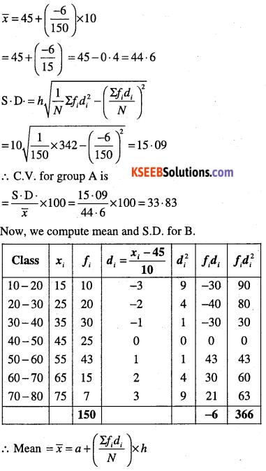 1st PUC Maths Question Bank Chapter 15 Statistics 39