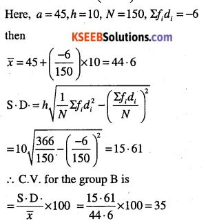 1st PUC Maths Question Bank Chapter 15 Statistics 40