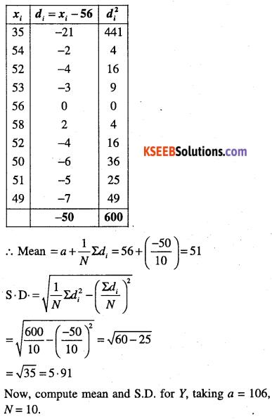 1st PUC Maths Question Bank Chapter 15 Statistics 42