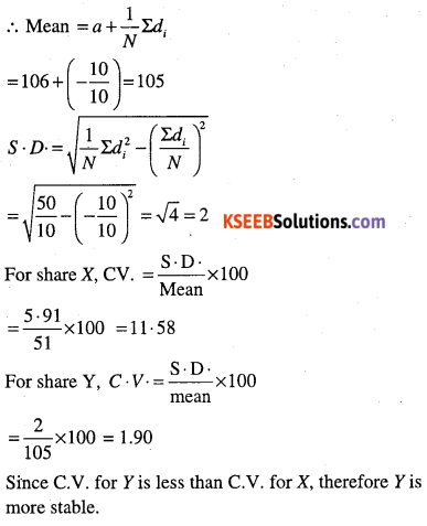 1st PUC Maths Question Bank Chapter 15 Statistics 44