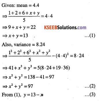 1st PUC Maths Question Bank Chapter 15 Statistics 52