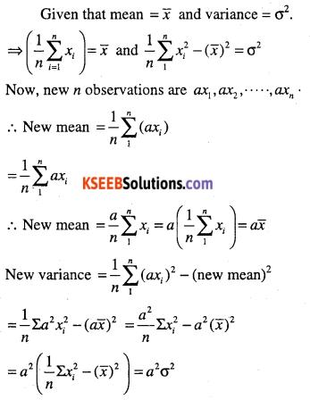 1st PUC Maths Question Bank Chapter 15 Statistics 55