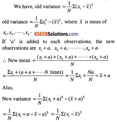 1st PUC Maths Question Bank Chapter 15 Statistics 56