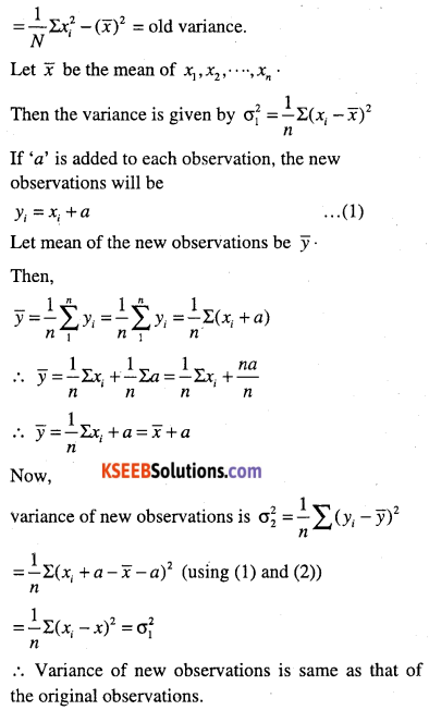 1st PUC Maths Question Bank Chapter 15 Statistics 57
