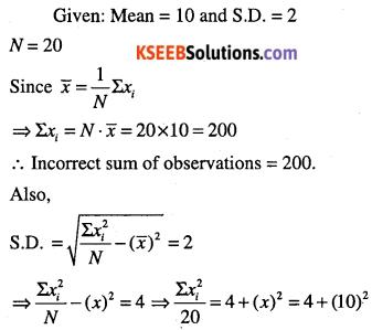 1st PUC Maths Question Bank Chapter 15 Statistics 58