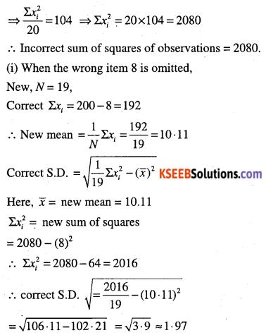 1st PUC Maths Question Bank Chapter 15 Statistics 59