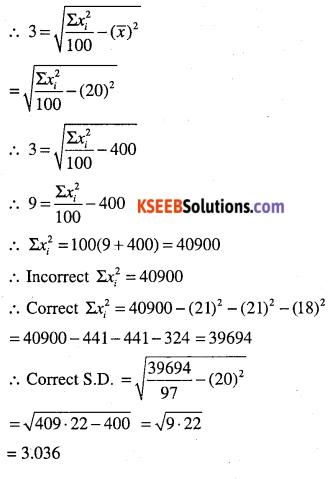 1st PUC Maths Question Bank Chapter 15 Statistics 63