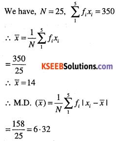 1st PUC Maths Question Bank Chapter 15 Statistics 7