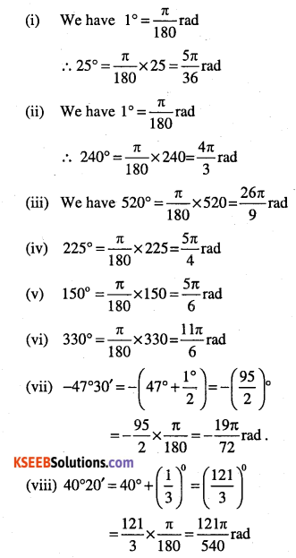 1st PUC Maths Question Bank Chapter 3 Trigonometric Functions 2