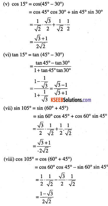 1st PUC Maths Question Bank Chapter 3 Trigonometric Functions 52