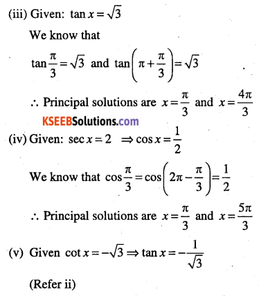 1st PUC Maths Question Bank Chapter 3 Trigonometric Functions 84