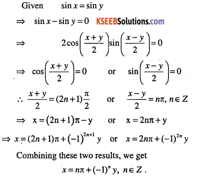 1st PUC Maths Question Bank Chapter 3 Trigonometric Functions 86