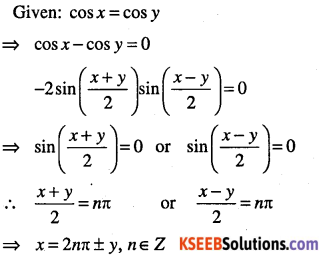 1st PUC Maths Question Bank Chapter 3 Trigonometric Functions 87