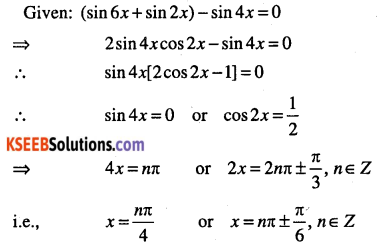 1st PUC Maths Question Bank Chapter 3 Trigonometric Functions 92