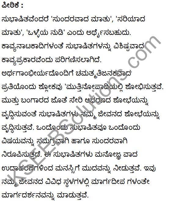 सूक्तिकुसुमानि Summary in Kannada and English 14