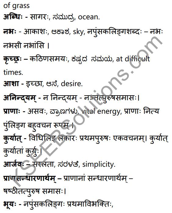सूक्तिकुसुमानि Summary in Kannada and English 26