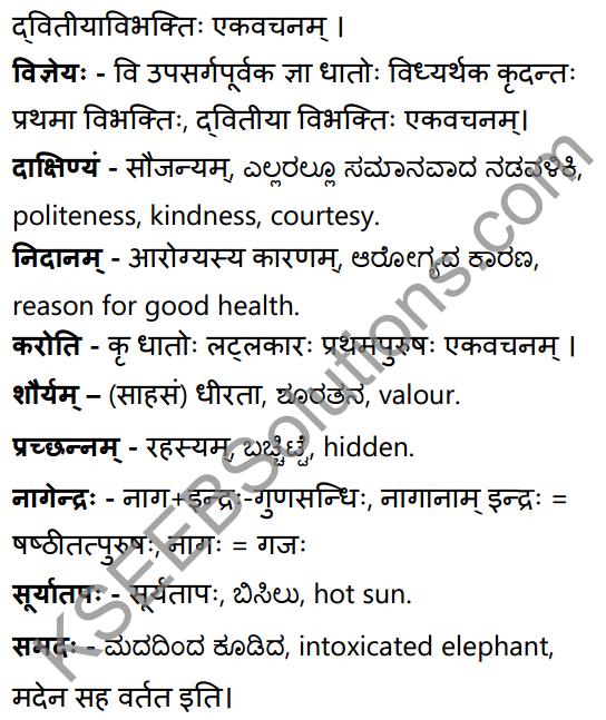 सूक्तिकुसुमानि Summary in Kannada and English 27
