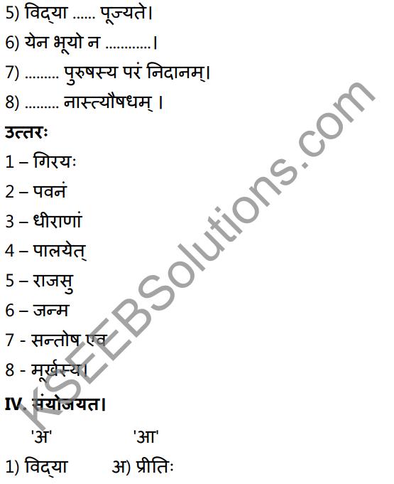 1st PUC Sanskrit Textbook Answers Shevadhi Chapter 9 सूक्तिकुसुमानि 7