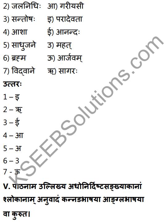 1st PUC Sanskrit Textbook Answers Shevadhi Chapter 9 सूक्तिकुसुमानि 8