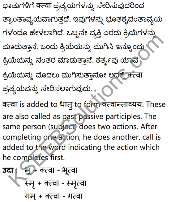 1st PUC Sanskrit Textbook Answers Vyakaran कृदन्ताः 11