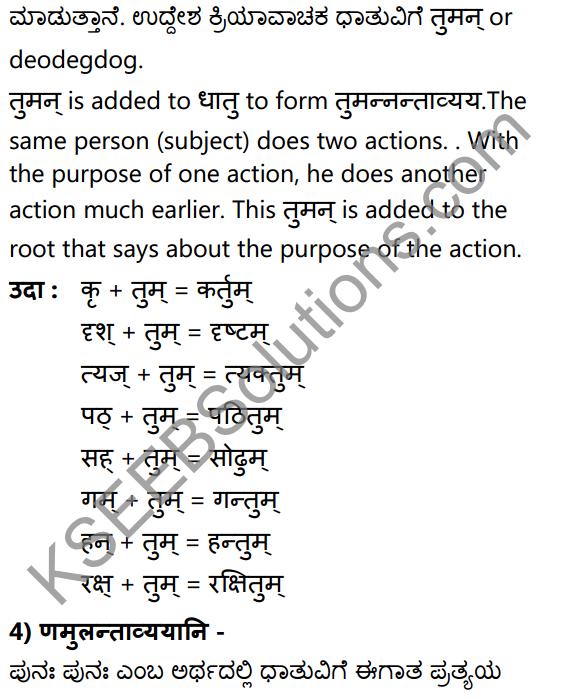 1st PUC Sanskrit Textbook Answers Vyakaran कृदन्ताः 13