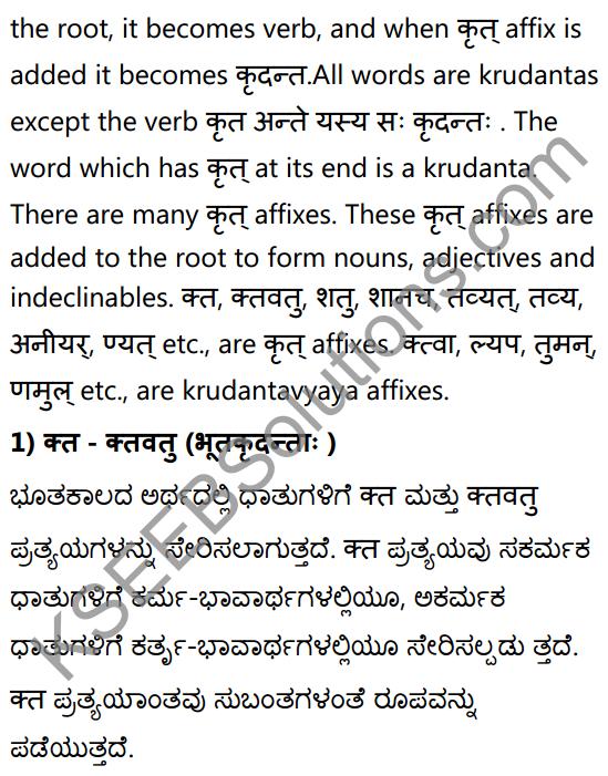 1st PUC Sanskrit Textbook Answers Vyakaran कृदन्ताः 2