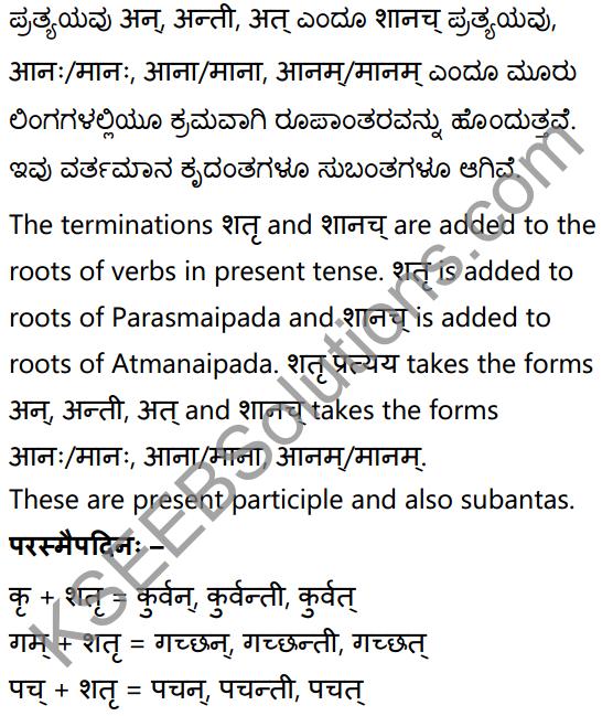 1st PUC Sanskrit Textbook Answers Vyakaran कृदन्ताः 5
