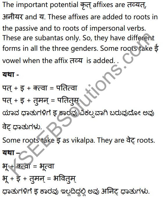 1st PUC Sanskrit Textbook Answers Vyakaran कृदन्ताः 7
