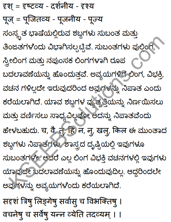 1st PUC Sanskrit Textbook Answers Vyakaran कृदन्ताः 9