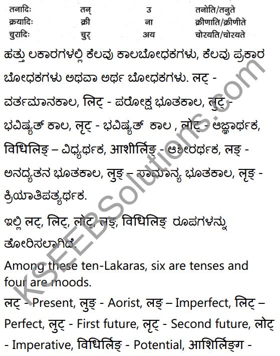 1st PUC Sanskrit Textbook Answers Vyakaran क्रियापदानि 4