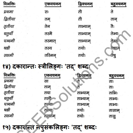 1st PUC Sanskrit Textbook Answers Vyakaran शब्दाः 10