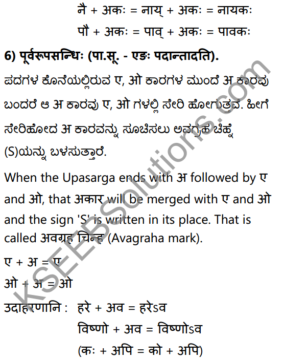 1st PUC Sanskrit Textbook Answers Vyakaran सन्धिः 10
