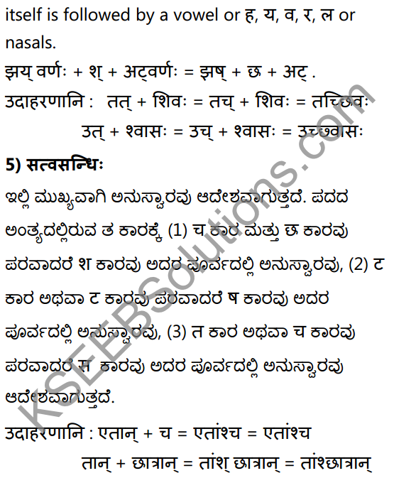 1st PUC Sanskrit Textbook Answers Vyakaran सन्धिः 16