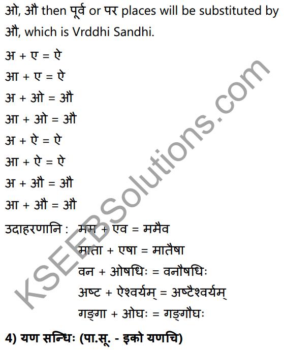 1st PUC Sanskrit Textbook Answers Vyakaran सन्धिः 7