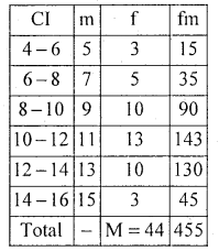 1st PUC Statistics Model Question Paper 1 with Answers - 10